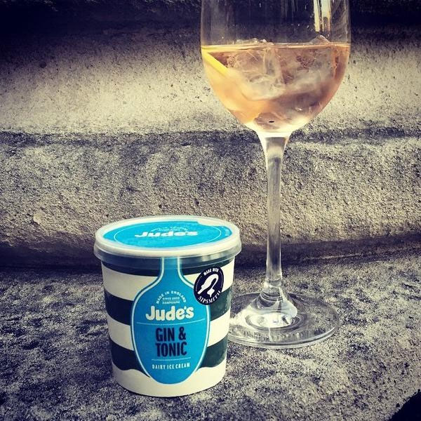 Il gelato al Gin & Tonic di Sipsmith & Jude's