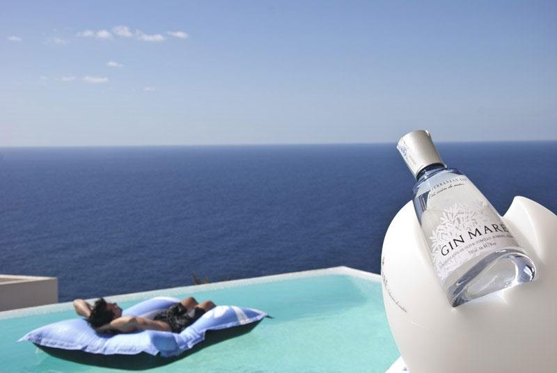 Una suggestiva foto di Villa Mare, quartier generale di Gin Mare