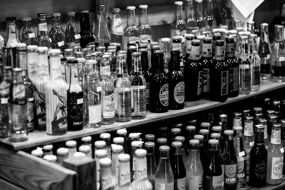I soft drink hanno una parte di rilevanza all'interno del negozio