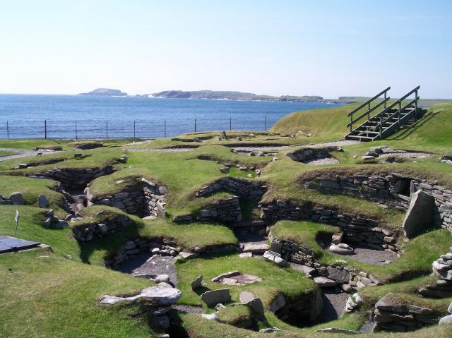Una vista delle Shetlands