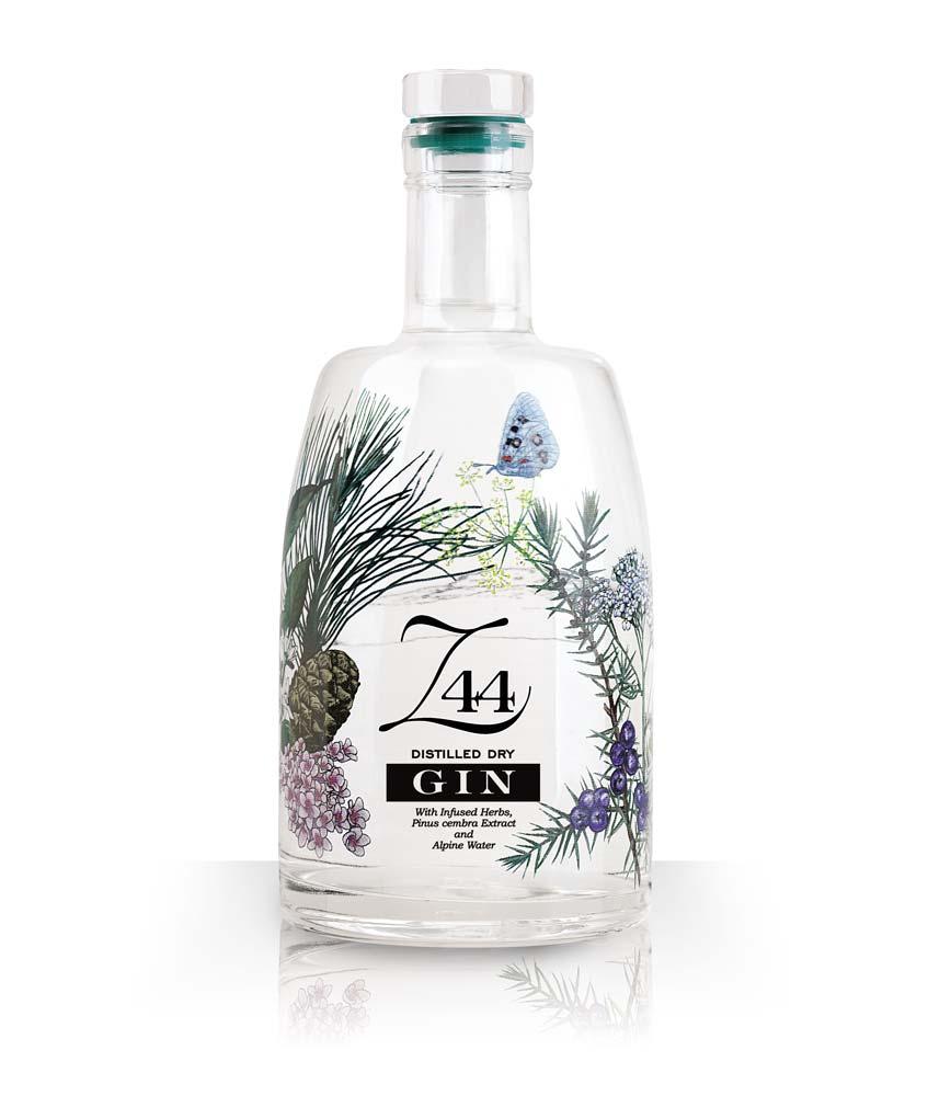 La bottiglia caratteristica del gin Z44