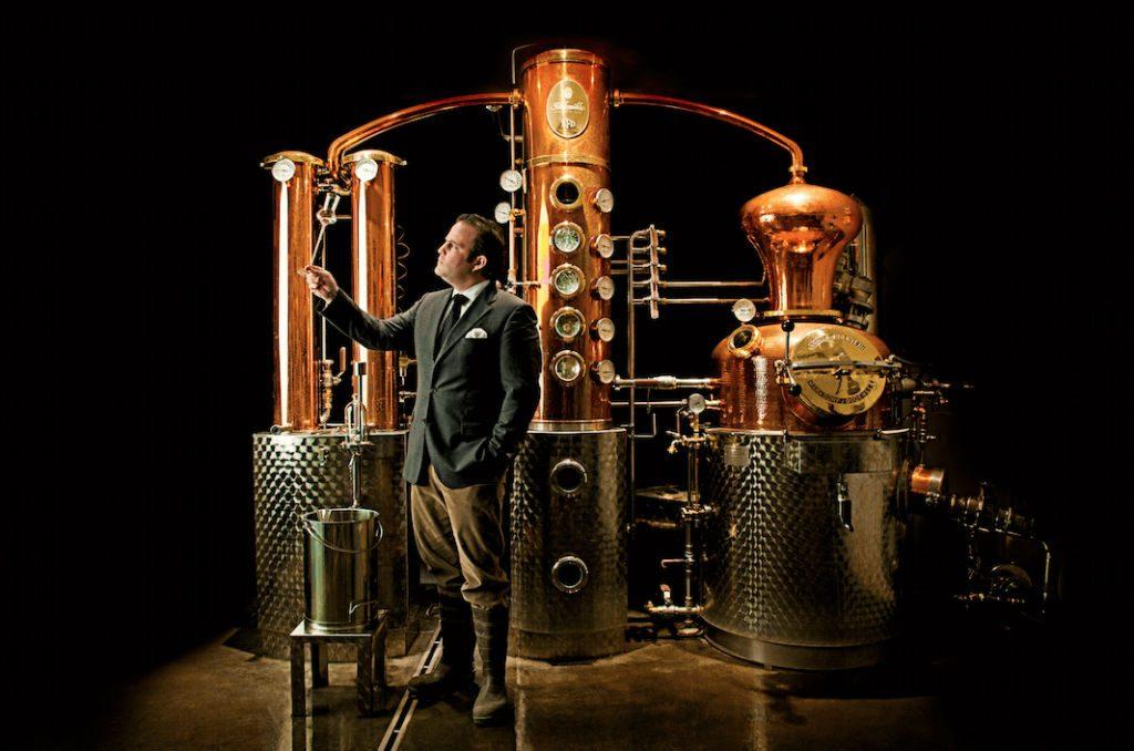 Un'immagine promozionale del master distiller Monkey 47