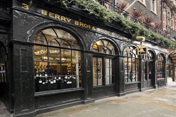 L'entrata del negozio Berry Brothers & Rudd