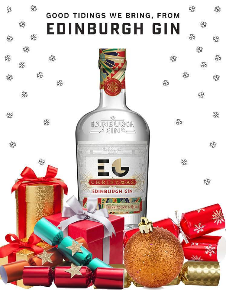 Un'immagine promozionale per la versione natalizia di Edinburgh Gin