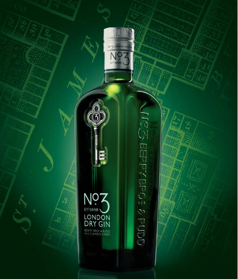 La bottiglia di Number 3 in un'immagine promozionale
