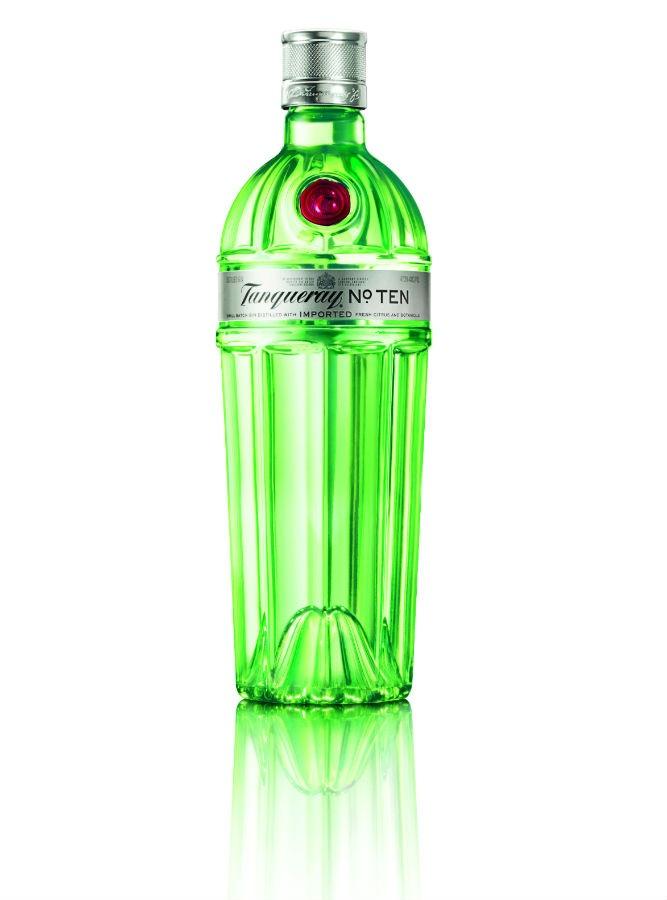 La bottiglia di Tanqueray Ten