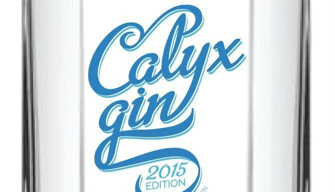 Un dettaglio della bottiglia di Calyx Gin edizione 2015