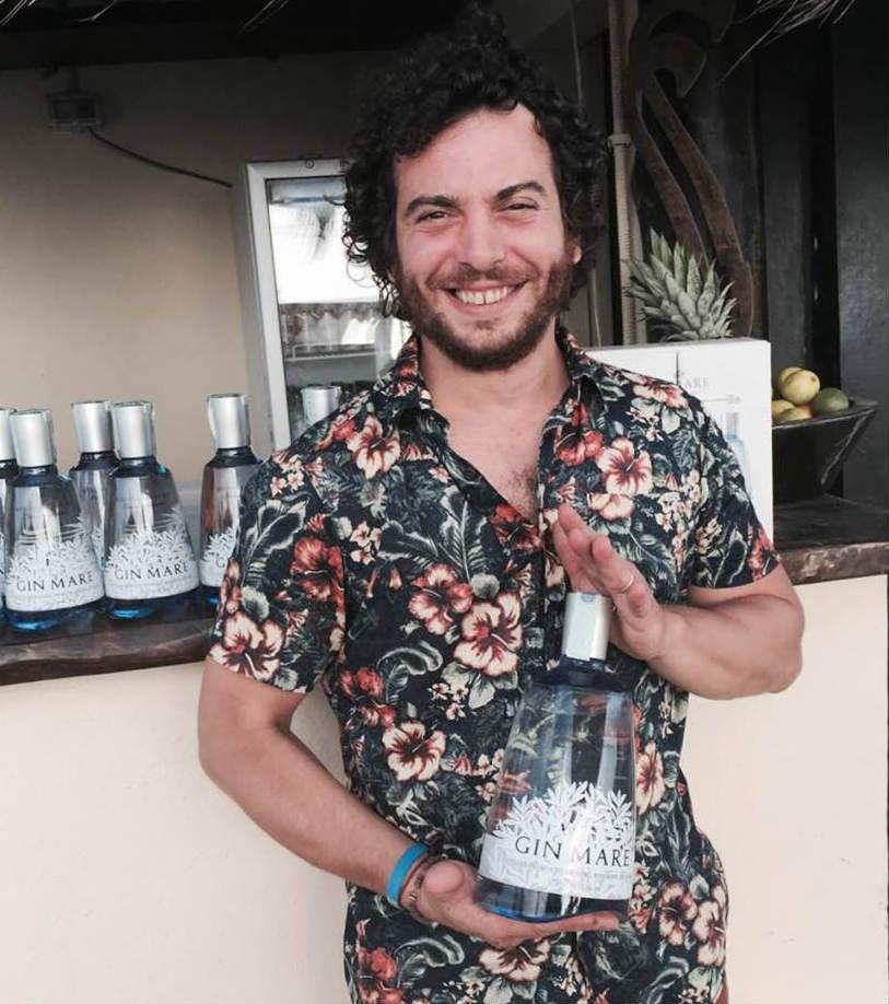 Andrea Zapis, vincitore della semifinale italiana della competizione per bartender Gin Mare Mediterranean Inspirations