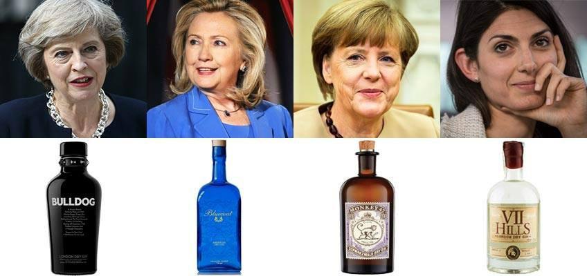 First (gin) Ladies: le donne al potere paragonate al gin