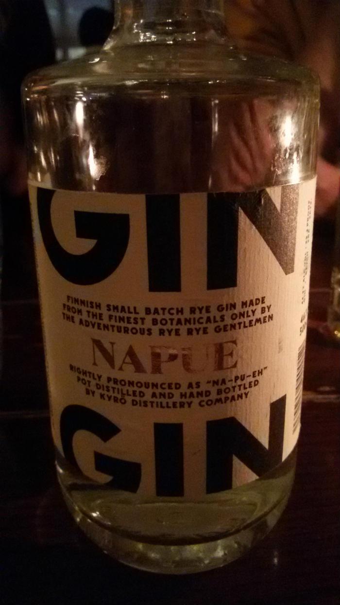 Napue Gin degustato presso Holborn Dining Room