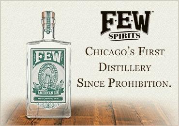 FEW American Gin in un'immagine pubblicitaria