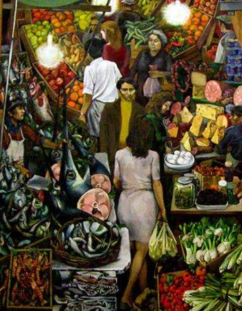 """""""Vucciria"""", il mercato di Palermo dipinto da Renato Guttuso (1974)"""