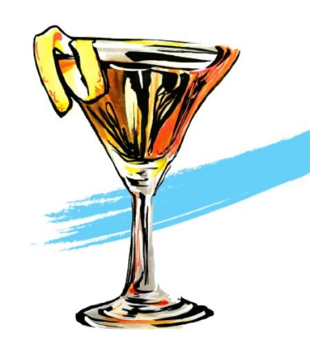 Bijou Cocktail disegnato da Andy FluOn