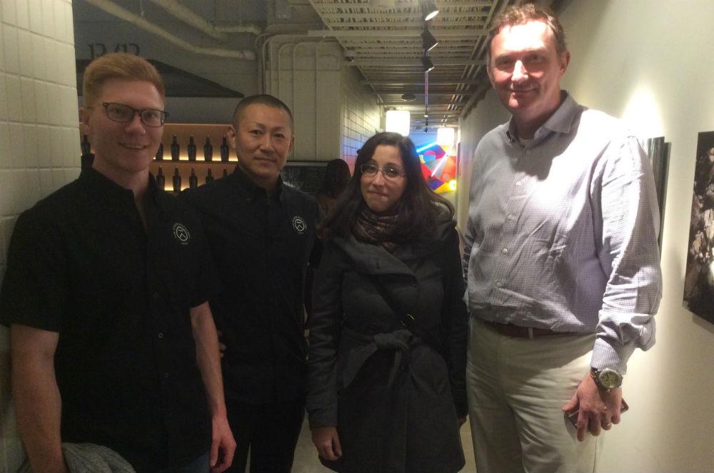 Da sinistra: Alex Davies, Masami Onishi, Vanessa Piromallo e David Croll